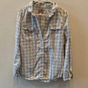 Old Navy Gray plaid flannel style button up
